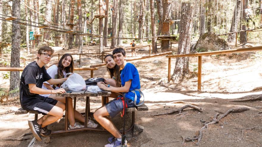 Grupo de picnic en Amazonia