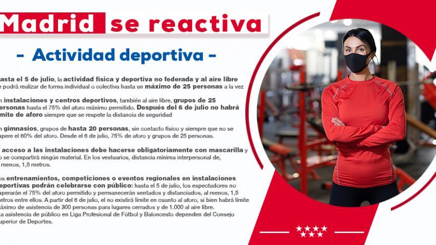 Madrid se reactiva deporte