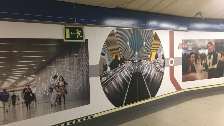 La estación de Plaza de Castilla acoge desde hoy una exposición sobre el suburbano de la ciudad china de Shanghái
