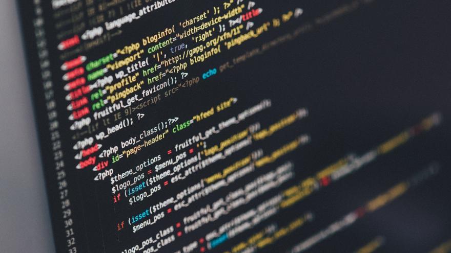 Pantalla con códigos de programación