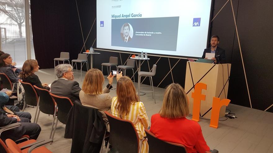 El viceconsejero de Hacienda y Empleo, Miguel Ángel García Martín, participa en la presentación del Libro Blanco del Teletrabajo 2019