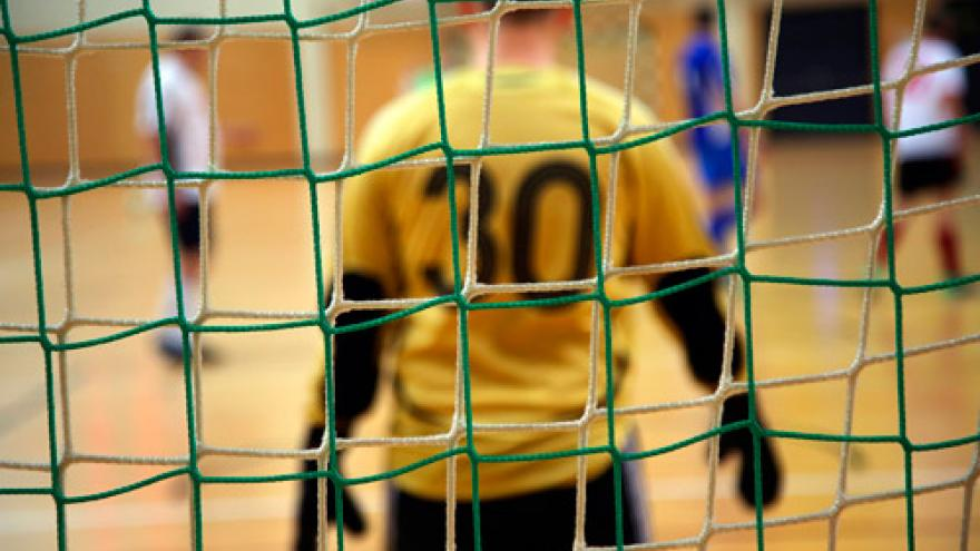 Imagen ilustrativa de un guardameta de fútbol sala