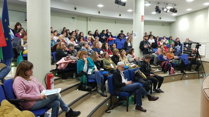 Sesión plenaria de un encuentro