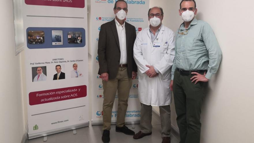 Peter Baptista de la Clínica Universitaria de Navarra, Guillermo Plaza del Hospital de Fuenlabrada y Carlos O'Connor del Hospital Quiron Marbella