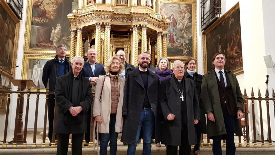 El consejero de Cultura, Turismo y Deportes, Jaime de los Santos, visita el templo en Alcalá de Henares