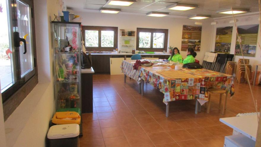 Aula en el interior del Centro de educación ambiental Bosque Sur