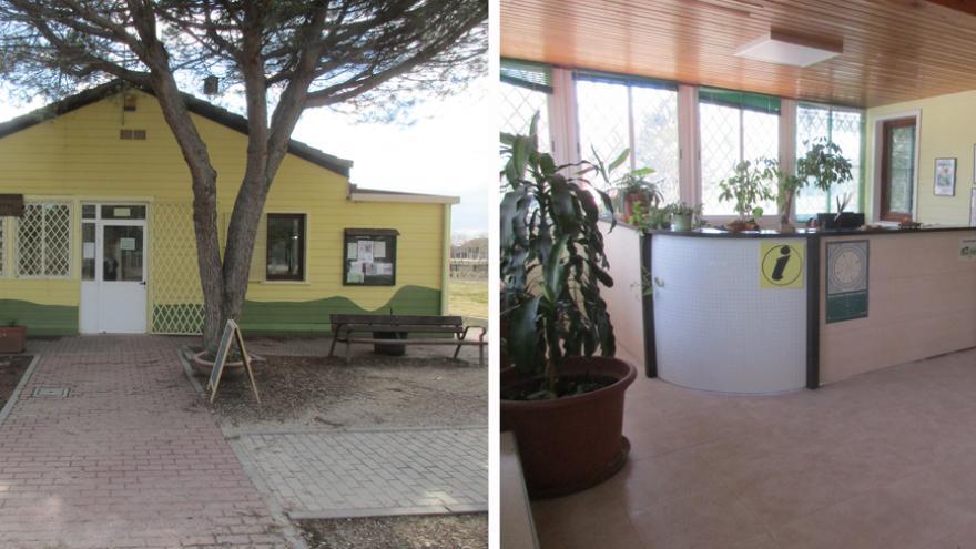 Acceso al Centro de educación ambiental Polvoranca y punto de información