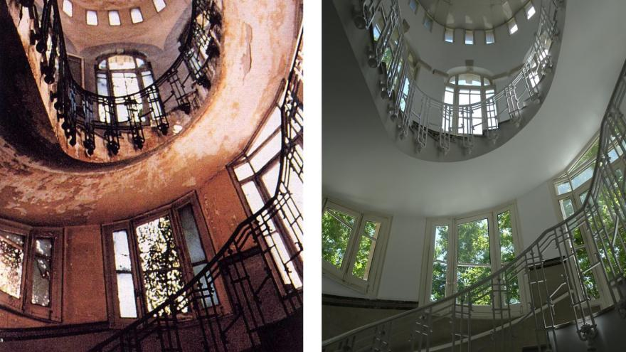 Imagen de la escalera posterior