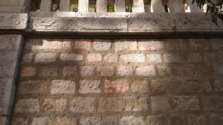 Imagen del muro exterior