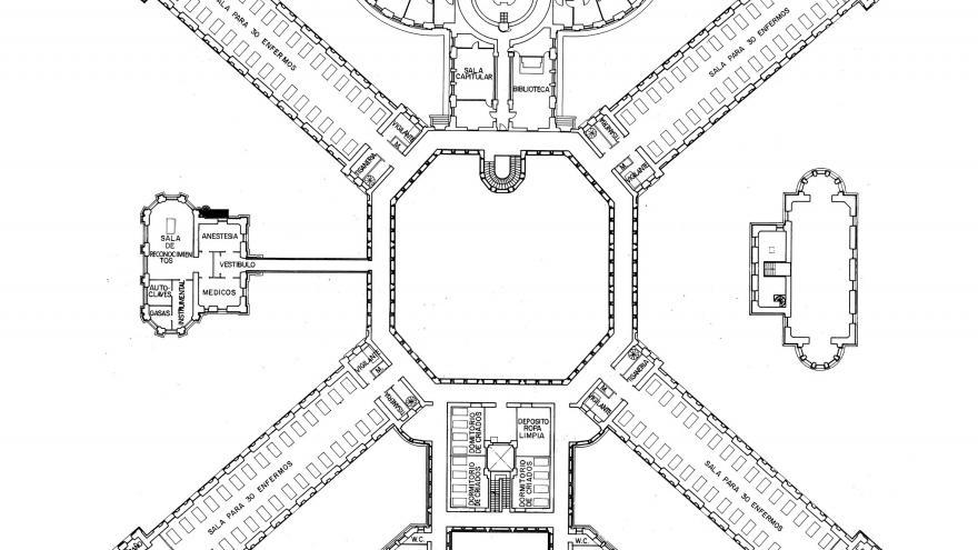 Imagen del plano original de la planta segunda de Maudes