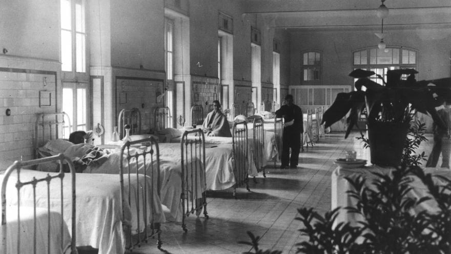 Imagen de una de las salas de enfermos