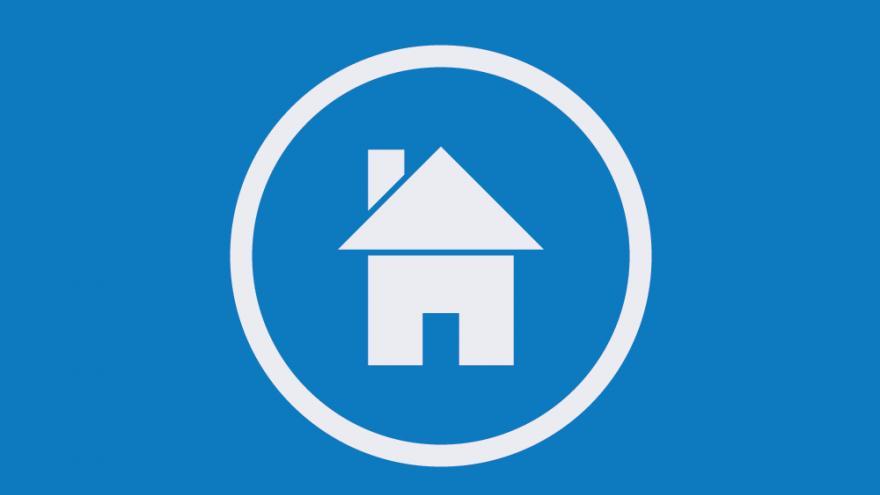 Imagen de una casa azul
