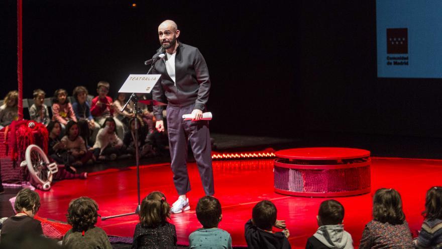 Jaime de los Santos en la presentación de una nueva edición de Teatralia