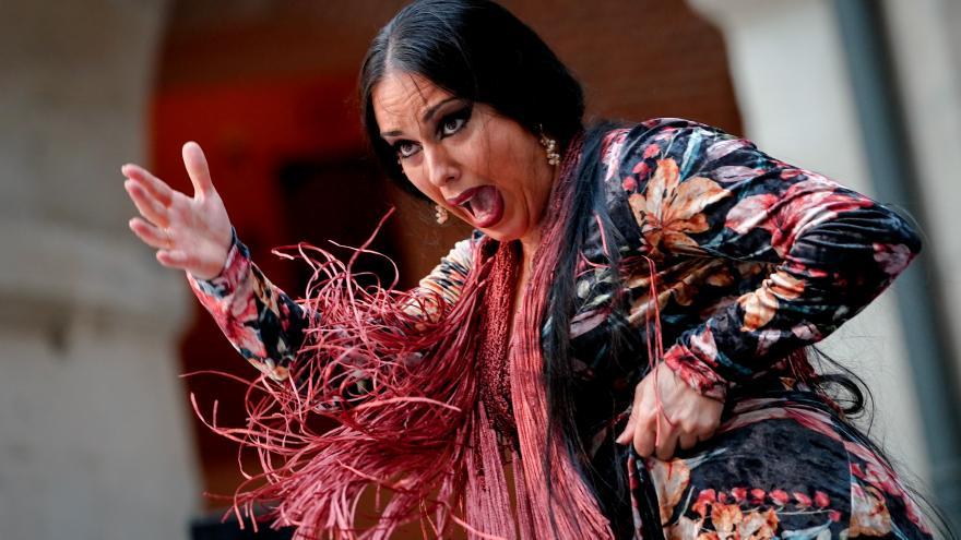 """parte de la actuación del cuadro flamenco """"Bulería"""""""