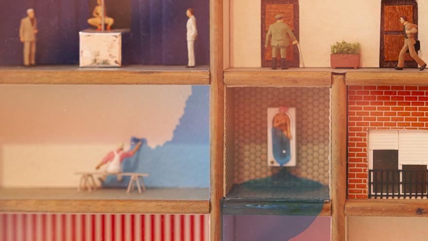 Detalle de una de las obras de la exposición Licra