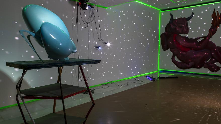 Sala de la exposición Licra