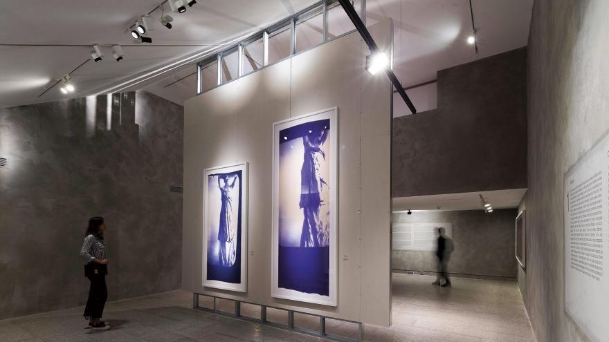 Una de las salas de la Exposicion Francesca Woodman