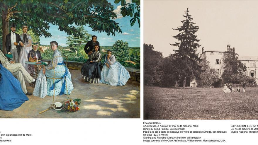 Una muestra de la Exposición Los Impresionistas y La Fotografia