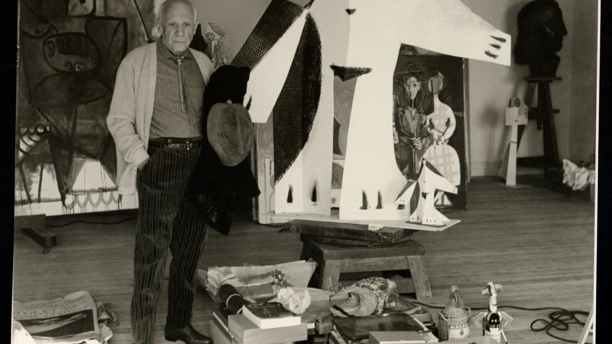"""Juan Gyenes. """"Regalos… recuerdos para su 80 cumpleaños"""". Notre-Dame-de-Vie, Mougins, 29 de octubre de 1961. Fundación Picasso. Museo Casa Natal"""