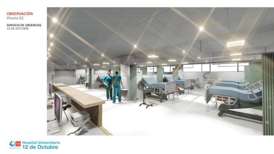 Reforma de la sala de observación del Hospital 12 de Octubre
