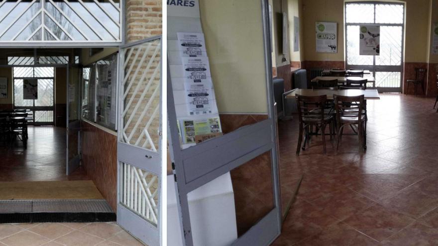 Accesos a la Sala estancial (club social) del Centro de educación ambiental Caserio de Henares
