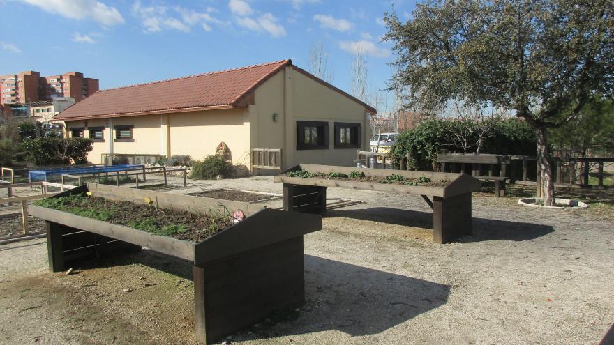 Huerto didáctico en el Centro de educación ambiental Bosque Sur