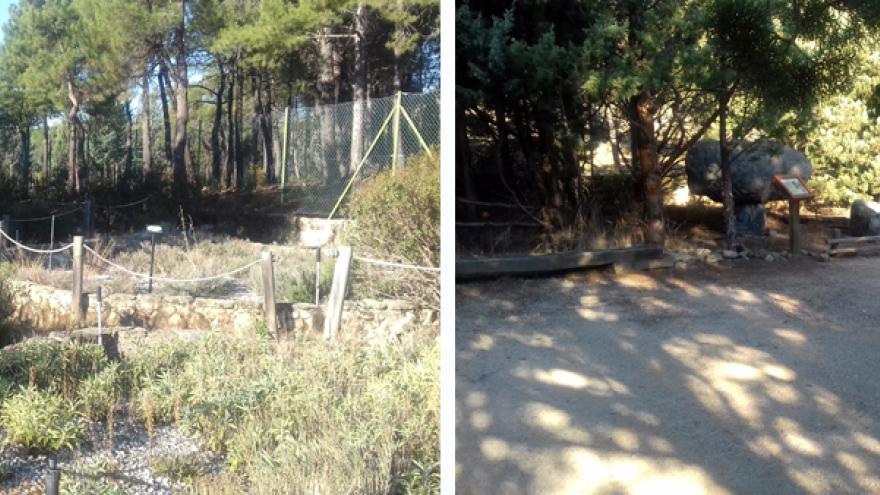 Jardín de las rocas y Jardín de aromáticas en el Centro Visitantes La Pedriza
