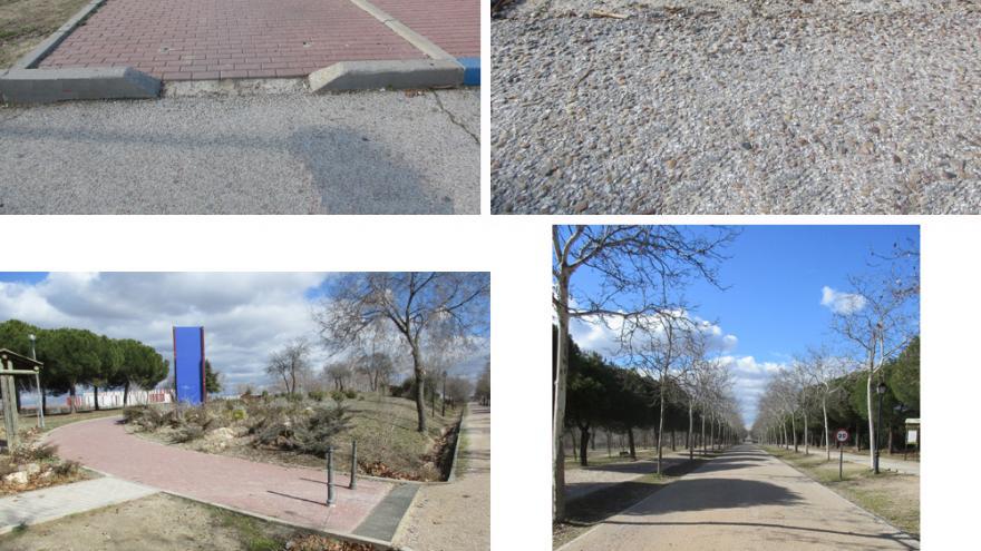 Distintos itinerarios de acceso al Centro de educación ambiental Polvoranca