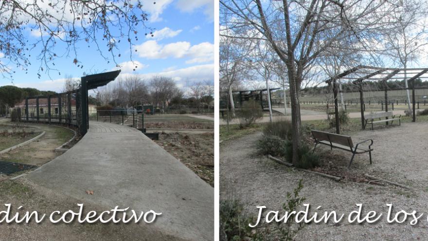 El Jardín colectivo y el jardín de los aromas en el Centro de educación ambiental Polvoranca