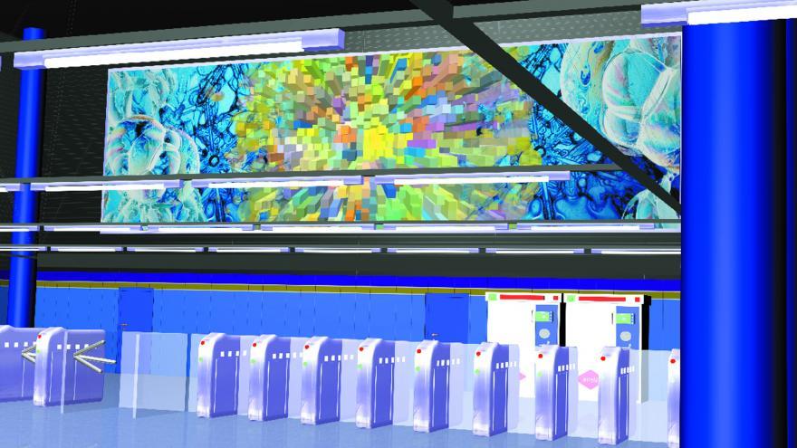 Recreación 3D del mural