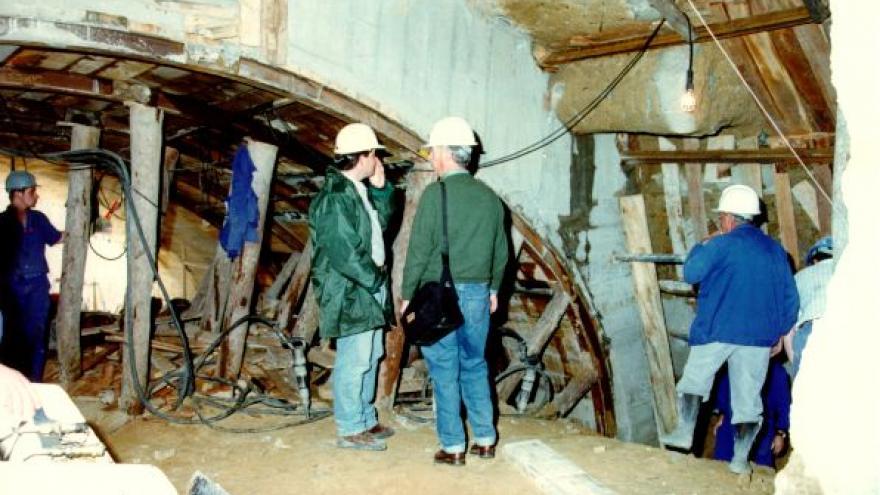 Imagen durante la construcción