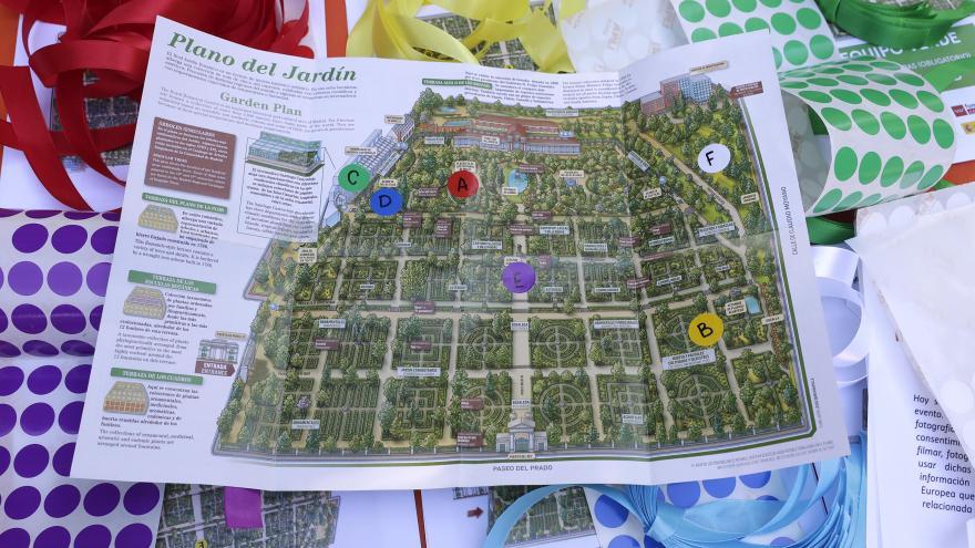 Mapa del Jardín Botánico