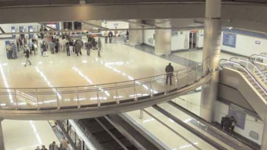 Espectacular imagen de la estación Getafe Central donde se aprecian los diferentes niveles de la estación