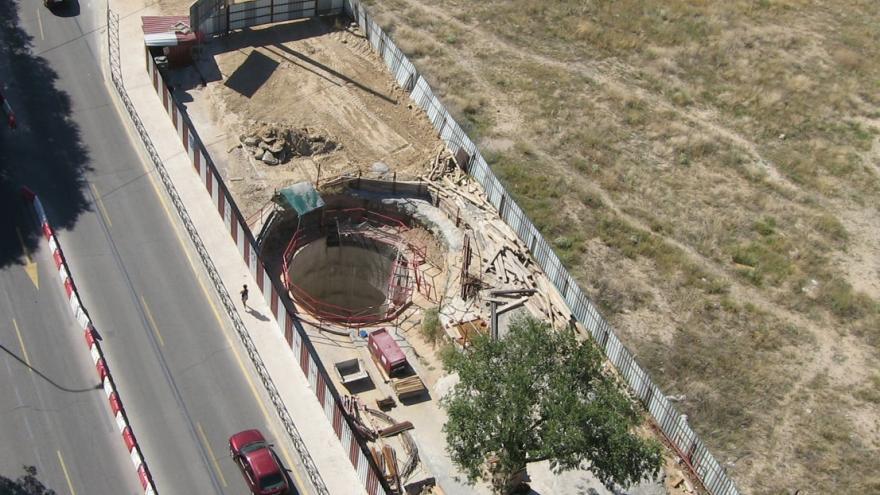 Foto aérea ubicación salida emergencia