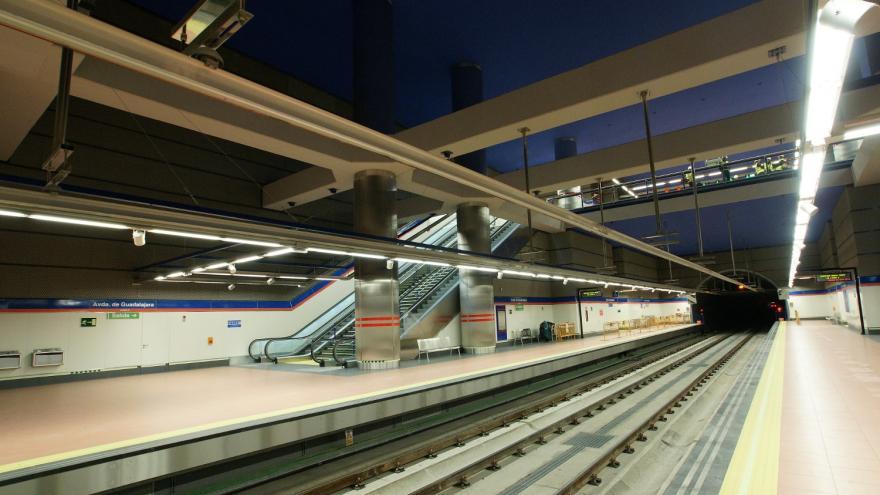 Andén estación Avenida de Guadalajara