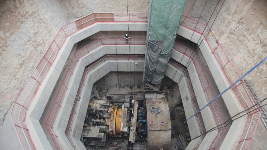 Desmontaje y extracción tuneladora por pozo de ventilación