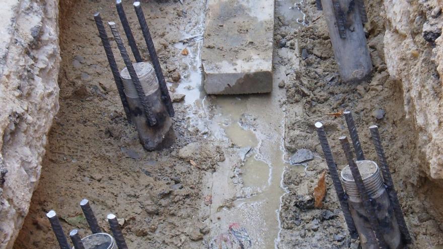Micropilotes realizados en las obras de la Línea 2 de Metro a Las Rosas