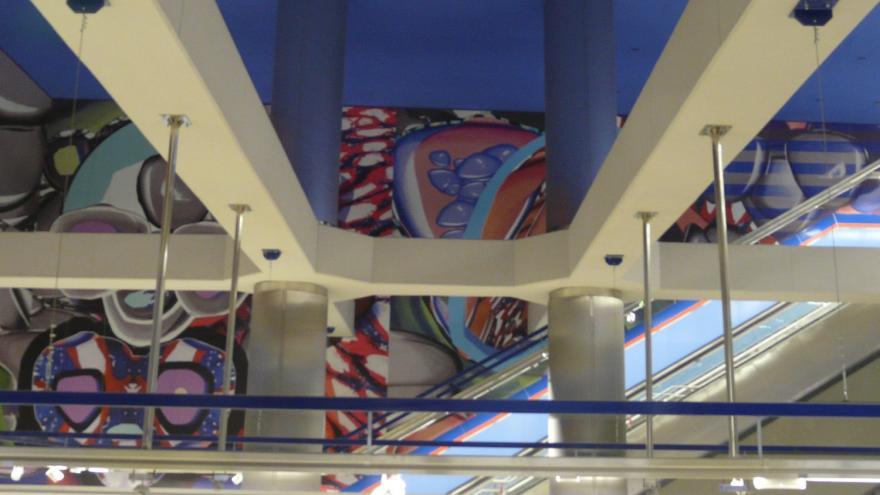 Mural de la estación Alsacia de Línea 2