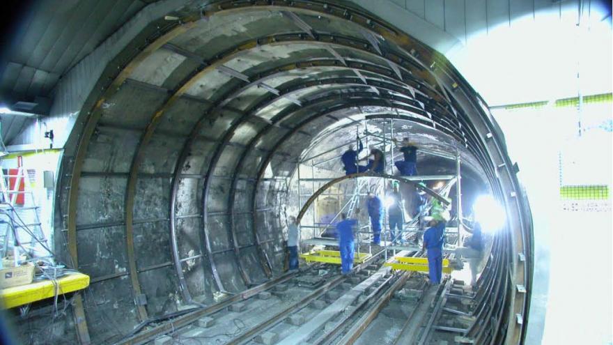 Fase 1 montaje protección metálica de túnel