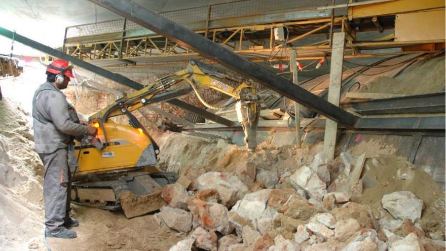 Fase 4, excavación y demolición del túnel
