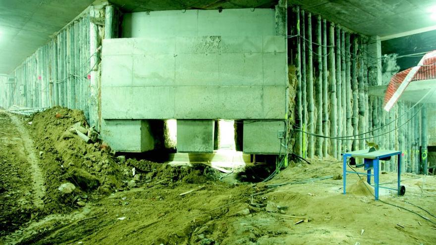 Recalce de la cimentación existente