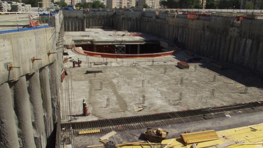 Estación de San Cristóbal en obras