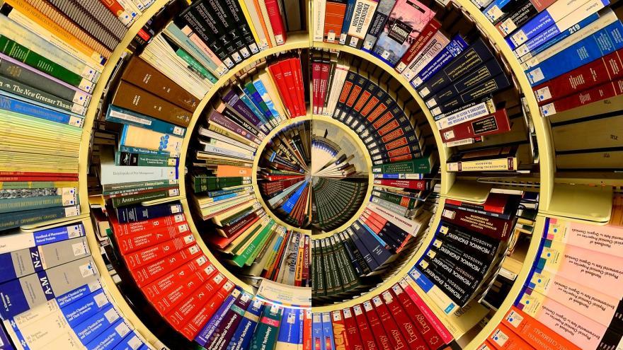 imagen de biblioteca en espiral