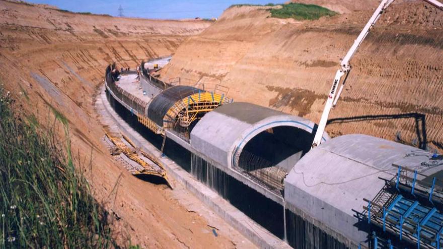 Ejecución del túnel a cielo abierto