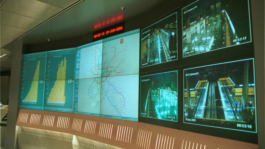 Monitores de control en el Mando de Estaciones de Alto del Arenal