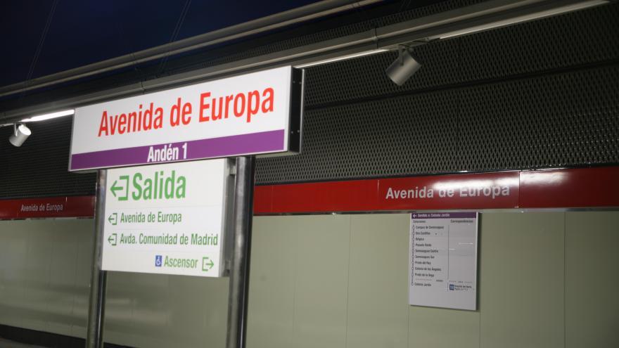 Señalización estación Avenida de Europa