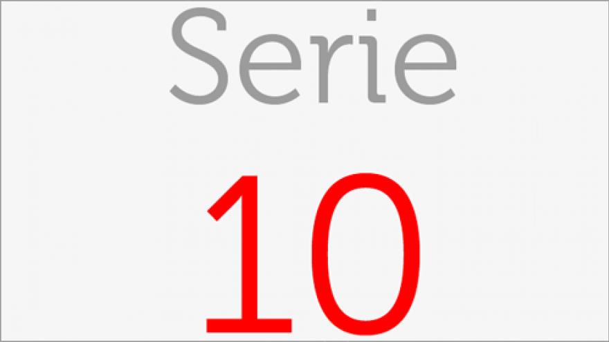 Logo de la Serie 10 de los planos de transporte público de la Comunidad de Madrid