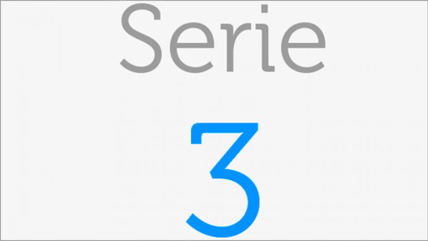 Logo de la Serie 3 de los Planos de transporte público de la Comunidad de Madrid