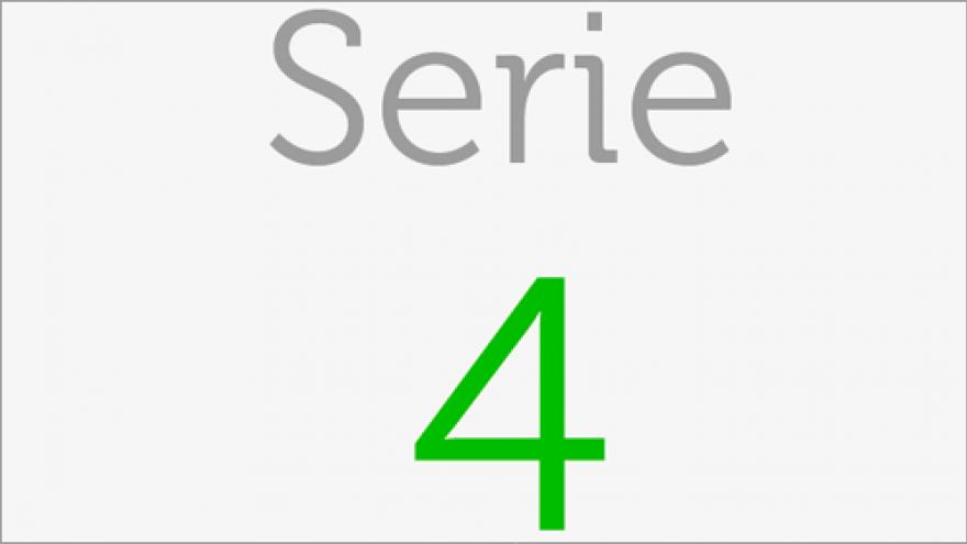 Logo de la Serie 4 de los planos de transporte público de la Comunidad de Madrid