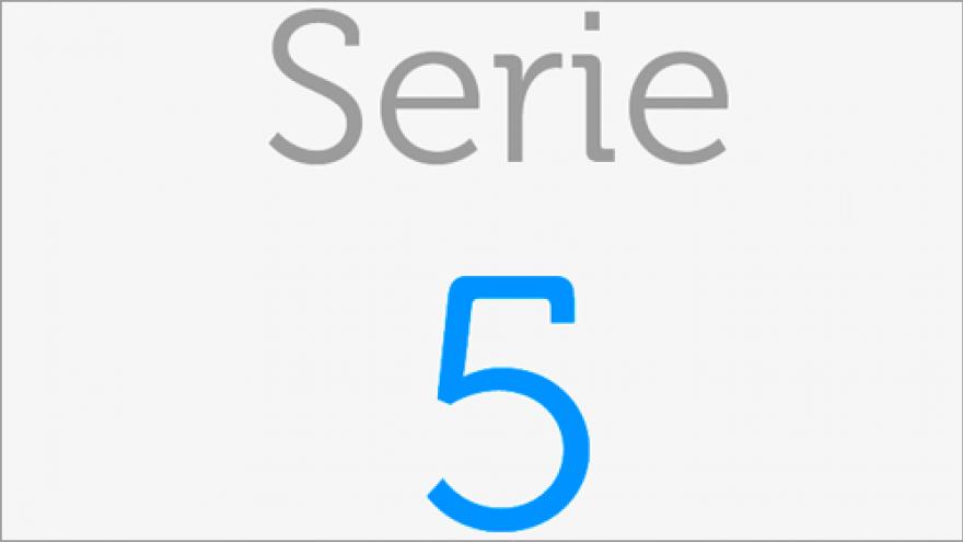 Logo de la Serie 5 de los planos de transporte público de la Comunidad de Madrid
